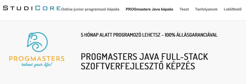 progmasters képzés